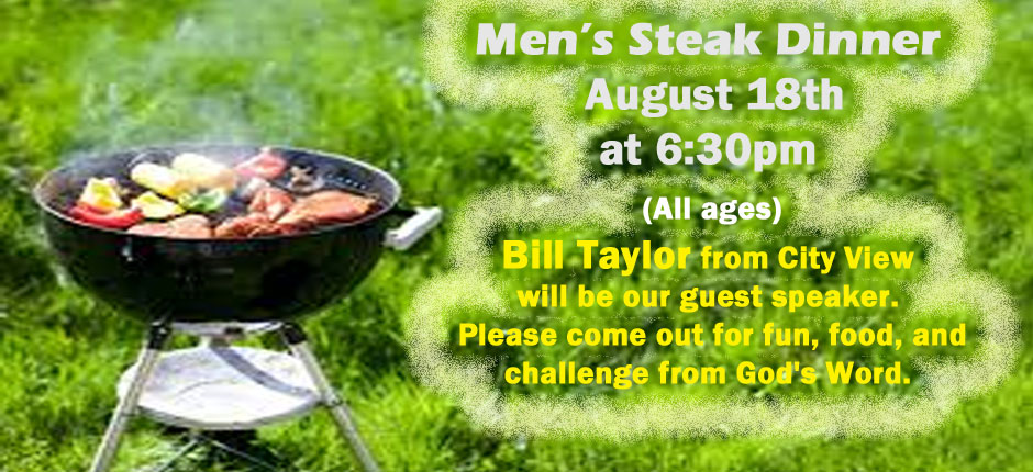 Men's Steak Dinner